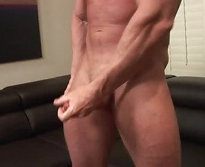 Big jock's hard and sweaty workout