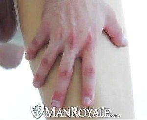 ManRoyale Yoga session for two hot naked guys turns into sex