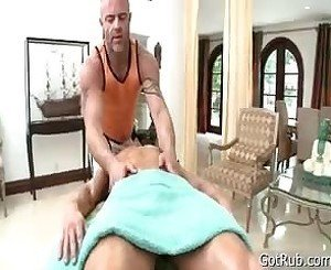 Attractive Gets Penis Sucked During Rubbing 2 By GotRub