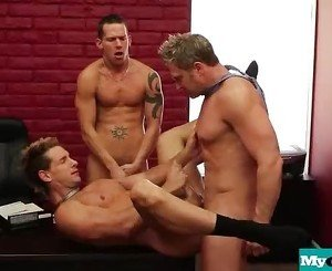 The Gay Office - Gay Anal Sex & Cock Massage Movies 13