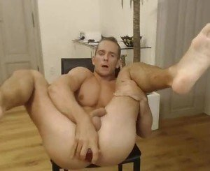 Stefano Jakub fuck himself with dildo