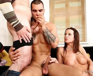 Bisexual scene with Cindy Dollar