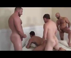 Horny Gay gangbanged by 3 bros - Hardcore and facial