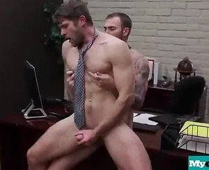 The Gay Office - Gay Anal Sex & Cock Massage Movie 19