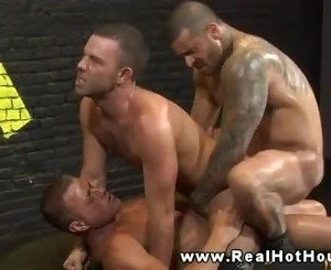 Horny hunk pounding ass with his thick cock