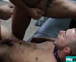 Young muscled studs fucked by older dudes in the office 22