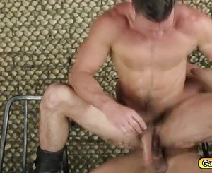 Abusive anal fuck by Military gayman on his twink prisoner