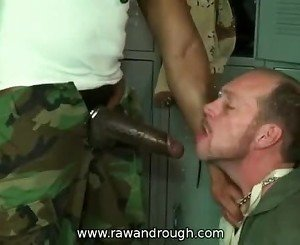 Big black cock fucks a thirsty white mouth