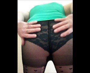 wanking in tights and panties