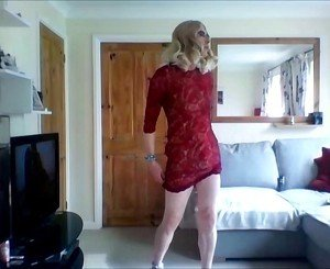 New sexy red lace dress