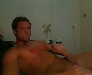 Horny guy jacking-off
