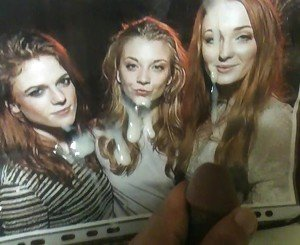 Rose Leslie, Natalie Dormer and Sophie Turner Cum Tribute
