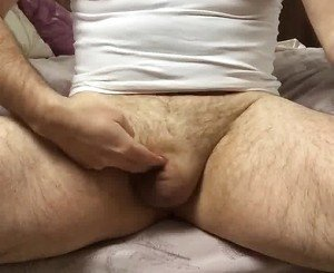 Masterbating my tiny cock like its a clit