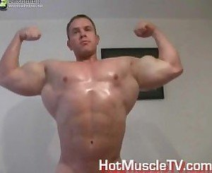 Muscle Raphael Solo ( Muscle Flexing, Jerk Off & Cum )