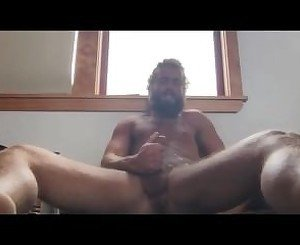 Hippy hunk hot cum shot